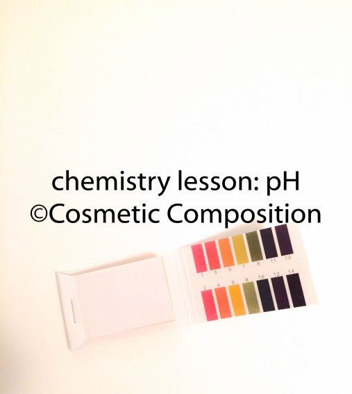 how pH is used in cosmetics