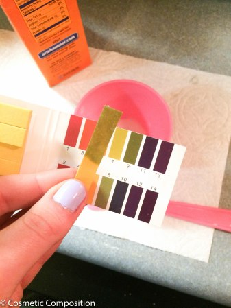pH testing of baking soda as an exfoliant
