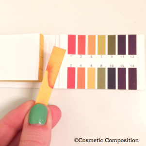pH of Neutrogena's Pore Refining toner - Cosmetic Composition