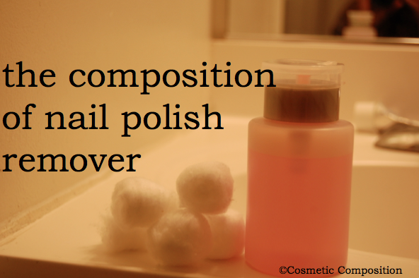 the composition of nail polish remover - Cosmetic Composition.png