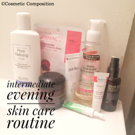 intermediate-evening-skin-care-routine-cosmetic-composition