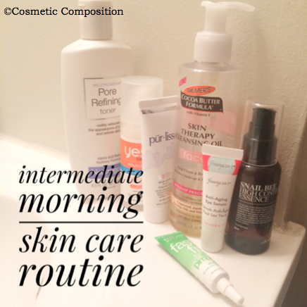 intermediate-morning-skin-care-routine-cosmetic-composition